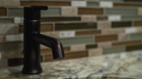 Sink details done by Complete Home Care, a bathroom remodeling company in Boca Raton, FL.