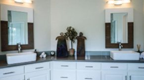 Cabinet details done by Complete Home Care, a bathroom remodeling company in Boca Raton, FL.