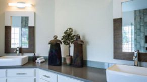 New countertops done by Complete Home Care, a bathroom remodeling company in Boca Raton, FL.