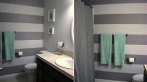 A bathroom sink and vanity project finished by Complete Home Care, in Boca Raton, FL.