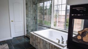 Tub details done by Complete Home Care, a bathroom remodeling company in Boca Raton, FL.