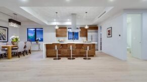 New breakfast bar and kitchen remodeling in Boca Raton FL by Complete Home Care.