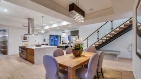 A dining room example by kitchen remodeling contractors, Complete Home Care, in Boca Raton, FL.
