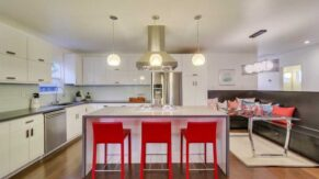 Interesting new island and kitchen remodeling in Boca Raton FL by Complete Home Care.