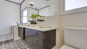 Bathroom remodeling company, Complete Home Care, finished this bathroom in Boca Raton, FL.