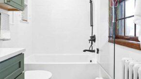 Bathroom cabinet and vanity details in Boca Raton, FL.