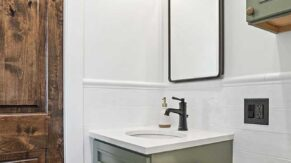 A vanity done by Complete Home Care, a bathroom remodeling company in Boca Raton, FL.