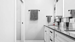 Bathroom shower and cabinet work by Complete Home Care, in Baca Raton, FL.
