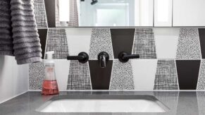 Tile work done by Complete Home Care, a bathroom remodeling company in Boca Raton, FL.