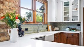 Countertop and sink details of a recent kitchen remodeling project by Complete Home Care.