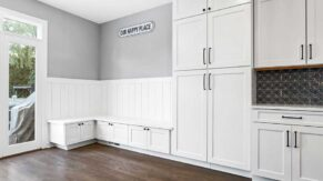 Kitchen cabinet details by kitchen remodeling contractors, Complete Home Care, in Boca Raton, FL.